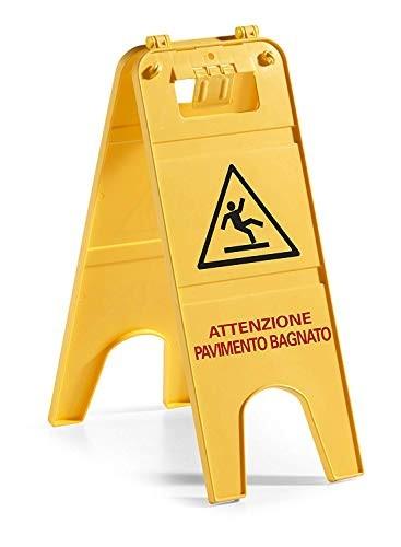 Pannelli di avviso in plastica colore giallo senza scritta