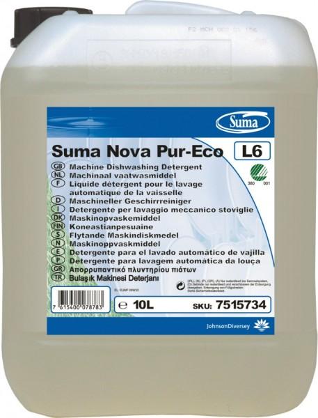 Detergente stoviglie Suma Nova Pur-Eco L6. Acque dure/medie