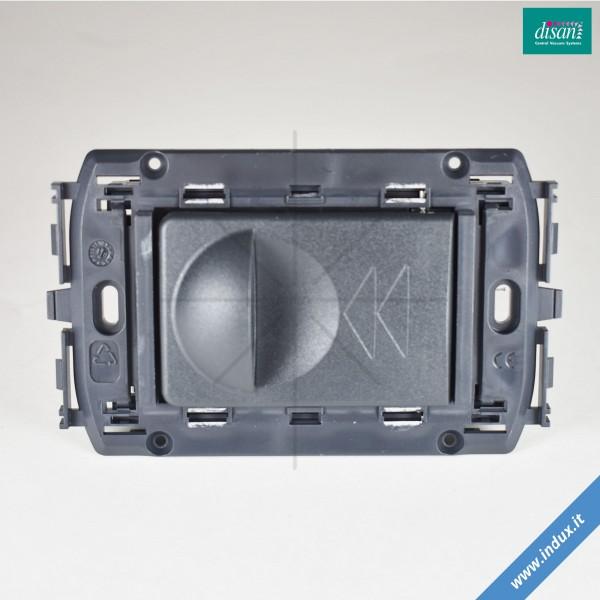 Presa rettangolare serie New Line per aspiratore centralizzato. Idea/Rondò