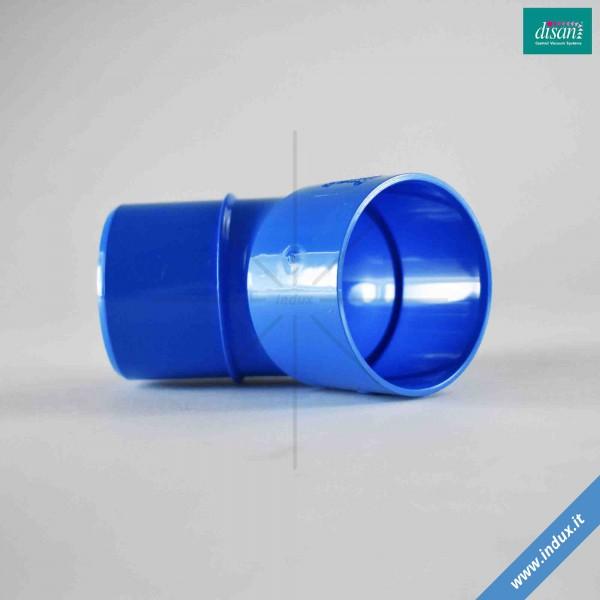 Curva in PVC curva 45° M/F con battente