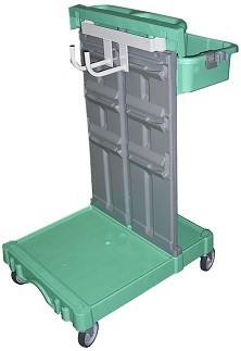 Carrello porta separatori e accessori aspiratore centralizzato