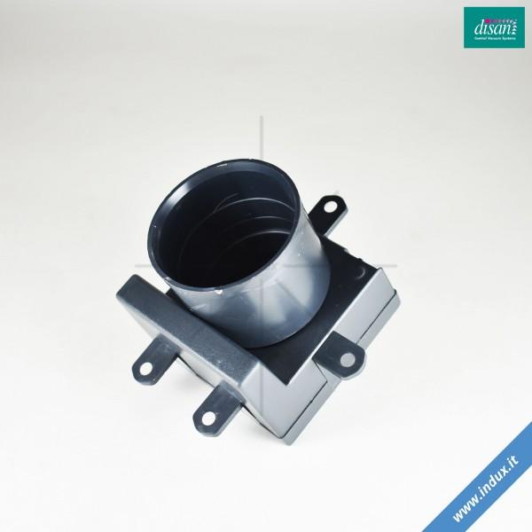 Contropresa per prese in acciaio inox. Parete/pavimento